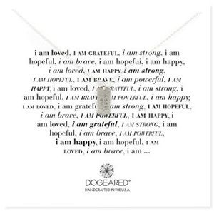 """Dogeared """"I Am Happy"""" Small Dog Tag Necklace"""